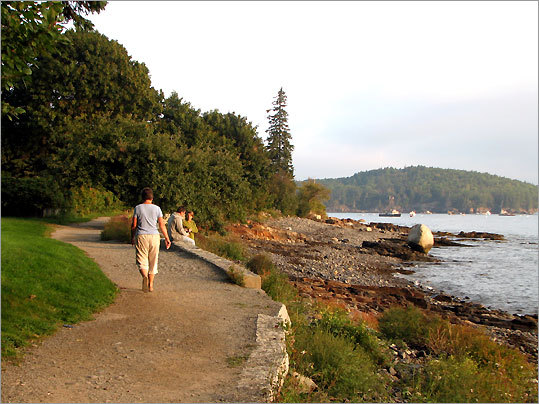 Shore Path on Bar Harbor's waterfront