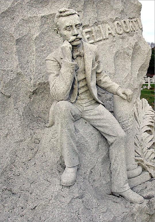 Grave marker for Elia Corti