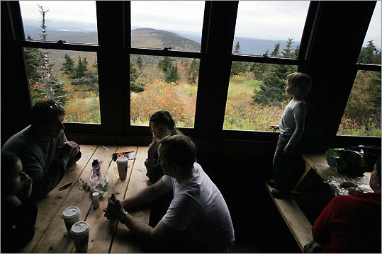 The windows of Bascom Lodge atop Mount Greylock offer a wraparound view, and the repaired Summit Road reopens this week.