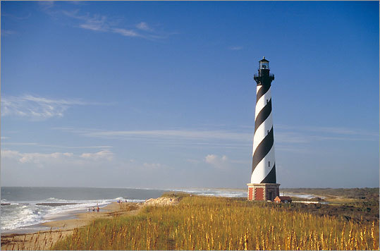 10. Cape Hatteras Outer Banks of North Carolina 'Providing some of the best board surfing along the East Coast, as well as the most famous lighthouse in the United States, Cape Hatteras attracts beachgoers to its historic fishing villages,' said Leatherman. 'Nature lovers adore the excellent beachcombing and superb fishing. Hurricane Irene in 2011 cut a few inlets through Hatteras Island so travel down to the Cape will be slowed.'