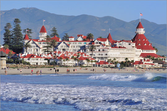 1. Coronado Beach San Diego, Calif. 'Coronado Beach in San Diego is a 1 1/2- mile long, wide sandy beach set against the backdrop of the iconic Hotel del Coronado with its peaked red roof and classic Victorian architecture,' Leatherman said. 'The beach is popular for swimmers, surfers, sunbathers and beachcombers. The beach is very flat, making it great for skim boarding and walking, and the sand has a silvery sheen because of the presence of mica. Families arrive in the morning, toting umbrellas, beach towels and picnic coolers for an all-day stay. A great team of lifeguards stands watch.'
