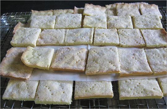 Thin, crisp shortbread cookies