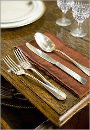 Hotel Silverware from the 'France' Compagnie General Transatlantique at American Dural May 20, 2009.