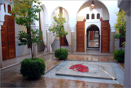 The Sublime Ailleurs riad is secluded and self-contained. Talaa 12 is located in the medina, the oldest part of Marrakech.