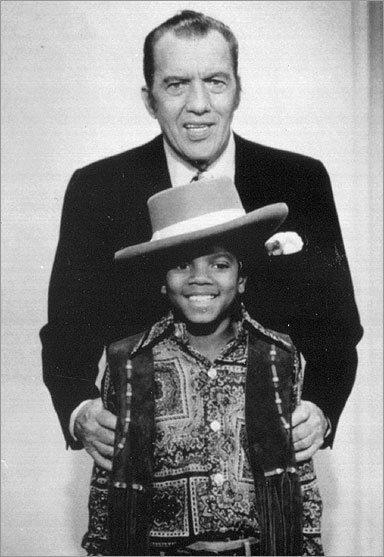 Ed Sullivan posed with a young Jackson on the 'Ed Sullivan Show' in this undated photograph.