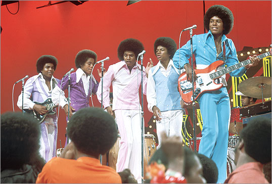 The Jackson 5 appeared on 'Soul Train' in 1972. The group's success continued into the 1980s with hits like 'Shake Your Body (Down to the Ground).'