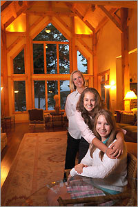 Brigitte Berman, 15, (foreground with her sister, Margot, 13, and mother, Jane at home in Dover) wrote a book about bullying