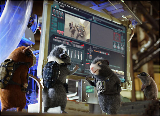 From left: Darwin (voiced by Sam Rockwell), Juarez (Penelope Cruz), and Blaster (Tracy Morgan) make up the team of special operatives in 'G-Force.'