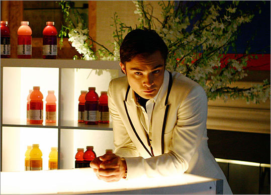 Vitaminwater is displayed during the CW's 'Gossip Girl.'