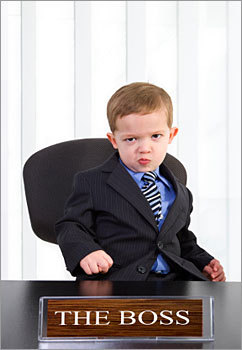 Do you sometimes feel that your boss acts like a stubborn, demanding, or needy child? Well, you're not alone. According to Lynn Taylor , workplace expert and author of 'Tame Your Terrible Office Tyrant (TOT): How to Manage Childish Boss Behavior and Thrive in Your Job,' such behavior has recently become more prevalent. She says that workplace stress and high unemployment have put bad bosses into overdrive, although bosses can exhibit bad behavior in any economy. Here are some of Taylor's tips for dealing with terrible office tyrants (or 'TOTs,' as she abbreviates them) to keep your sanity, and your job. At the end, let us know who your boss most resembles.