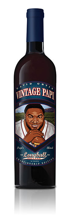 Following in the footsteps of other Red Sox stars, Ortiz agreed in 2008 to attach his mug to a bottle of wine produced by Charity Wines' Longball Cellars. Proceeds from the sale of the Merlot/Cabernet Sauvignon blend went to the David Ortiz Children's Fund .
