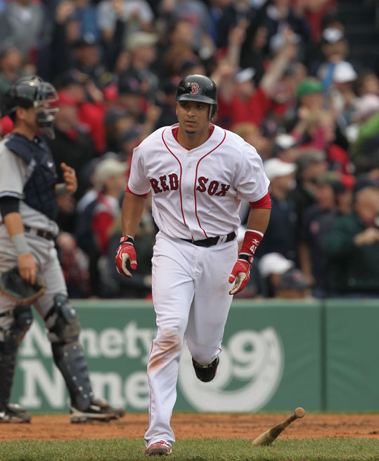 Victor Martinez acquired On July 31 2009, the Red Sox acquired switch-hitting All-Star catcher Victor Martinez from the Indians at the trade deadline for pitcher Justin Masterson and two prospects. Martinez was an instant fan favorite at Fenway, batting .336 in 56 games, helping the Sox clinch the wild-card berth. In 2010, the All-Star catcher hit 20 homers, drove in 79 runs to go along with a .302 average. V-Mart left Boston to sign with the Tigers at the end of the 2010 season.