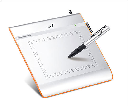 EasyPen i405 Graphics Tablets It's a notebook for your notebook. EasyPen i405 by Genius helps with illustrating, taking notes, and signing emails. It costs $79 and is Mac and PC compatible.