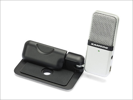 Go Mic Take better notes with Go Mic by Samson. The portable microphone helps capture complicated lectures, dense interviews, or anything else you might miss on the first time around. It plugs into a USB drive and carries a $49 price tag.