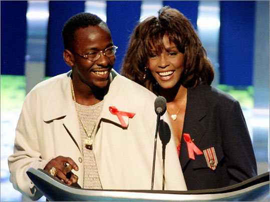 Bobby Brown and Whitney Houston, 1995