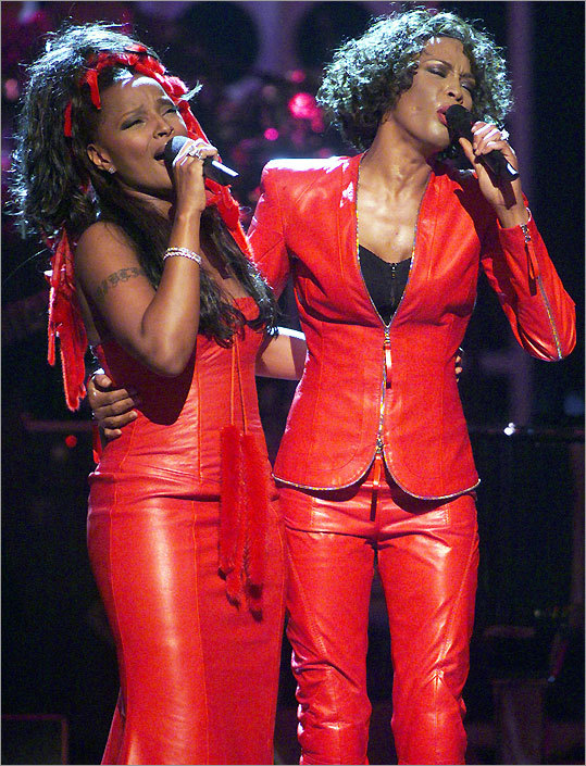 From left: Mary J. Blige and Whitney Houston