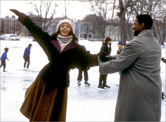 Whitney Houston and Denzel Washington