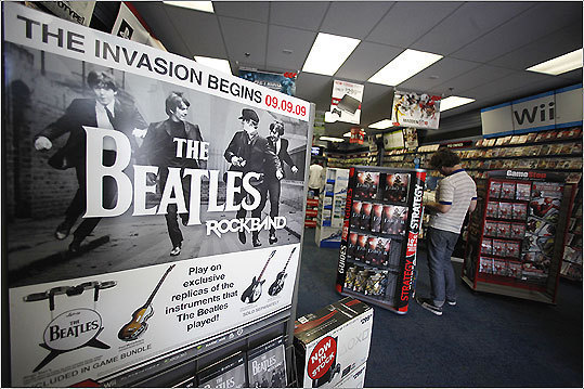 The Beatles: Rock Band Platforms: Playstation 3, Wii, XBox 360 Price: $59.99 After months of anticipation, 'The Beatles: Rock Band' hits shelves Sept. 9. Gamers take on John Lennon, Paul McCartney, George Harrison, and Ringo Starr avatars to perform songs like 'Something,' 'A Hard Day's Night,' 'Eight Days a Week,' and more. This game is rated T for teen for mild lyrics and references to smoking, but overall it's a family-friendly musical experience.