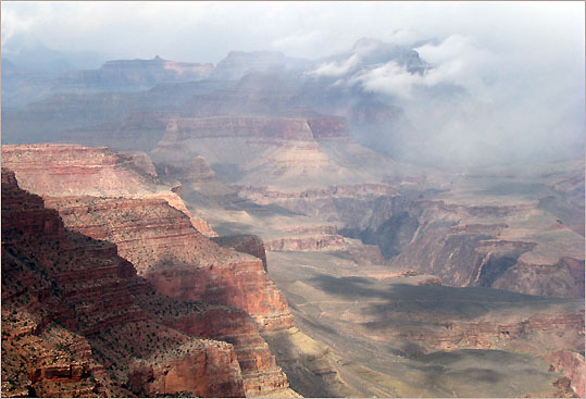 A view of Grand Canyon National Park from the South Kaibab Trail.
