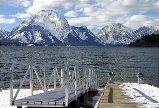 Jackson Lake in Grand Teton National Park in Wyoming.