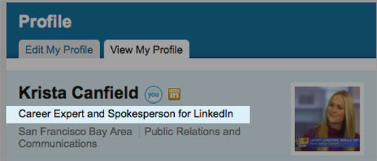 "The ""headline'' field is the text that shows up right underneath your name on your profile page; it also shows up in lists of search results on LinkedIn. You're limited to 120 characters. ""It shouldn't just be your title, but the 10 or 12 words that really explain what you do,'' O'Malley says. ""VP of marketing with extensive experience launching new consumer products for Mattel, Disney, and Graco'' is much better than just ""VP of marketing,'' for instance. If you're seeking employment or looking for consulting projects, O'Malley says that's worth mentioning in your headline, since it will jump out at recruiters, human resources executives, and prospective clients."