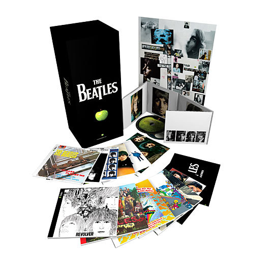 Wednesday also marked the release of new digitally remastered Beatles box sets. Shown here is the packaging and contents of 'The Beatles: Stereo Box Set.' There is also a mono version of the box set available today.