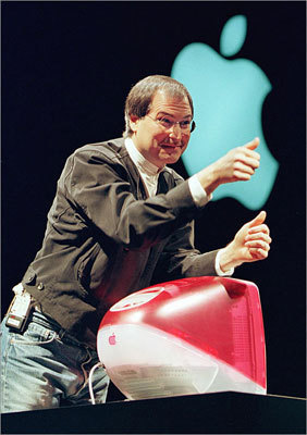 Jobs unveiled a new iMac at the Macworld expo in January 1999 in San Francisco.