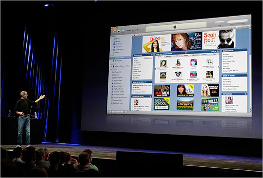 Jobs talked about the new iTunes 9.0 at the September 2009 event.