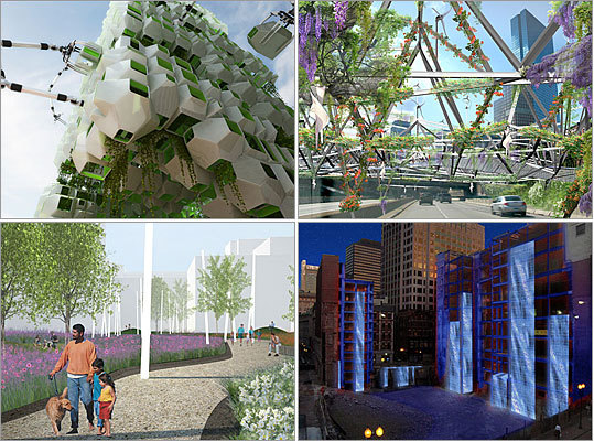 Some of the ideas for sprucing up the eyesores of Boston's stalled construction sites. Click here to see all the designs, and vote for your favorites .