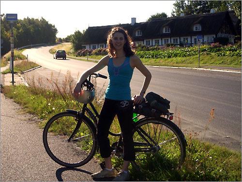 Lisa Snider on a bike trip in Bornholm, Denmark.