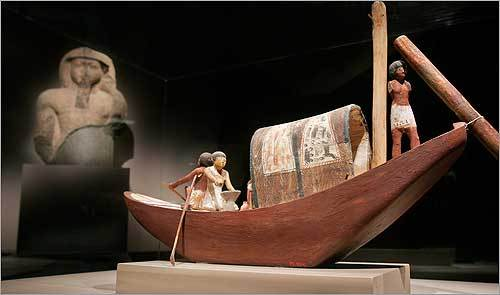 2. See some art At the Museum of Fine Arts this model Egyptian boat dating from about 2,000 B.C. is on display as part of The World of the Pharaohs exhibit.
