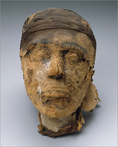 A mummy's head is the focus of the new MFA exhibit 'The Secrets of Tomb10A: Egypt 2000 BC'