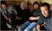 From left: orman Reedus, Billy Connolly, Writer-director Troy Duffy, and Sean Patrick Flanery