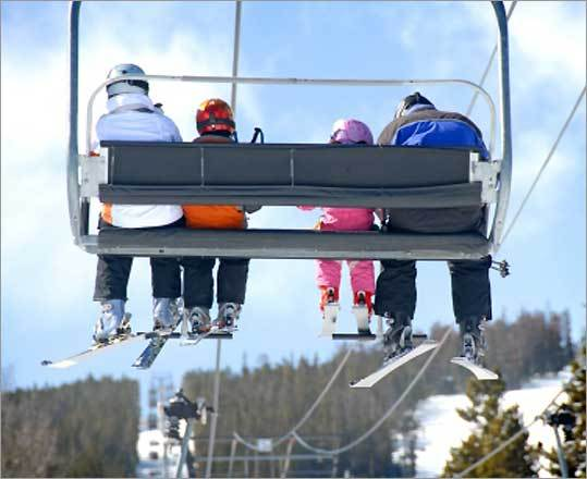 Once you're at the top of the mountain, getting off the lift is the next hurdle. 'You want to stand up before you try and get off,' says Loon Mountain's Alward. 'A lot of people don't get off the chairlift in time, and then they're trying to play catch up.'