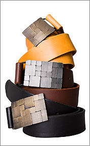Seattle blacksmith artist Erica Gordon will show her leather belts with metal buckles at this year's show.