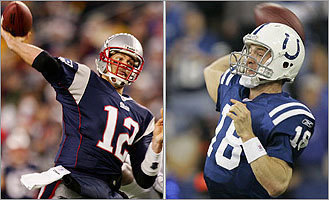 Patriots, Brady take on Manning, Colts