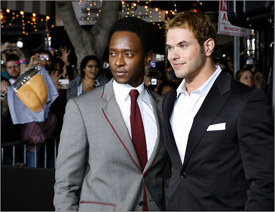 Actors Edi Gathegi and Kellan Lutz