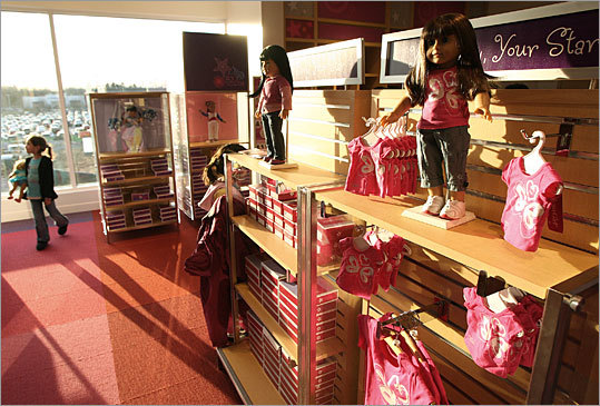 The popular Mattel line of dolls, clothes, books, accessories, and more jumps up to No. 7 this year from 10th in 2008. The brand also has its own stores, such as this America Girl store in the Natick Collection.