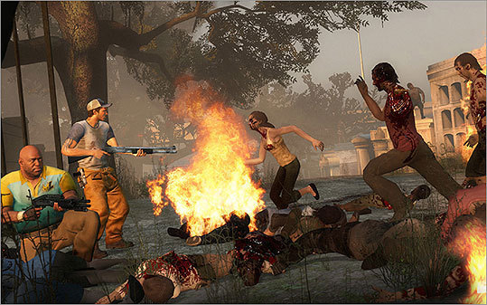 Left 4 Dead 2 Platform: Xbox 360, Windows PC Price: $49.99 Zombies have wiped out the population of Savannah, Ga. You're one of four survivors. Battle thousands of infected monsters on a quest to New Orleans in this game. 'It's a classic shooter with a broad array of weapons, and a remarkably diverse assortment of acid-spewing, flesh-rending enemies,' says Hiawatha Bray.