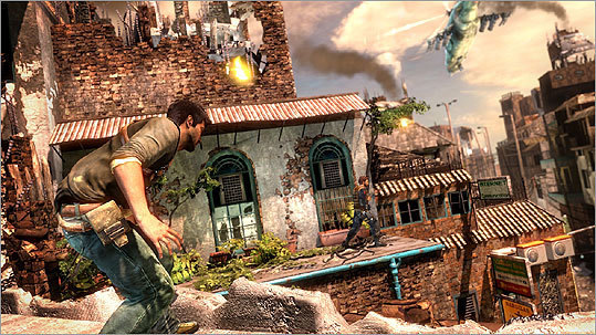 Uncharted 2: Among Thieves Platform: Playstation 3 Price: $59.99 'No video game has ever done a better job of capturing the style and rhythm of the movies,' says Hiawatha Bray. 'The game's storyline is trite, but a first-rate cast of voice-over actors carry it off with flair. Until everything stops.' A technical flaw in the game brings action to a halt at the state of a battle sequence for some players, according to Bray.