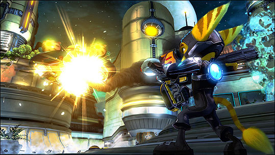 Ratchet and Clank Future: A Crack in Time Platform: Playstation 3 Price: $59.99 You're half of the universe's greatest duo. And it's your job to reunite, save everyone from Dr. Nefarious, and discover your origins and destiny in the meantime. Sounds heavy. Gamers play both characters, and are free to experiment with new gadgets - like hoverboots and a ship - on unexplored planets and moons. This game is rated E 10+ to T for fantasy violence, language, and comic mischief.