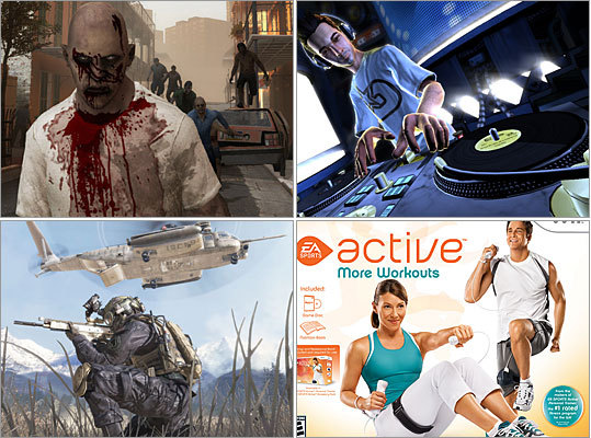 Zombies. Russian militants. The police. These are just some of the things you can do battle against in our list of 12 adult-oriented video games this holiday season. However, it's not all violence on our list - there are also games to help you lose weight and bone up on your DJ skills. Click through for some video game picks from Globe and Boston.com staff.