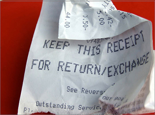 4. Save all your receipts Put them all in an envelope and in a safe place where you can find them later. You never know when you'll need to return something, and a receipt makes the process so much easier.