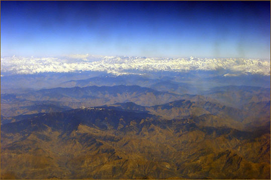 The mountains of northern India and the Himalayan peaks