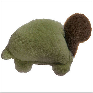 Eco Turtle Dog Toy Price: $12.99 For your dog West Paw Design does dog toys without damaging the environment. This turtle - also in poppy and willow colors - is made of 85 percent post consumer recycled soda bottles. It's machine washable, built to last, and available in four other fun animal shapes.