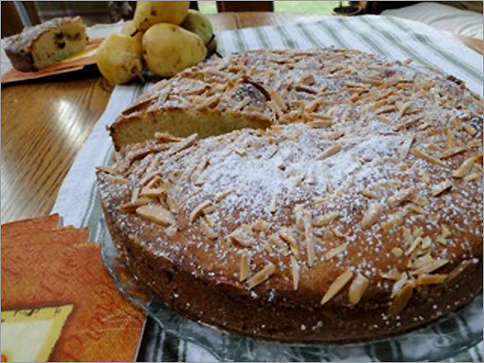 Almond torta with chocolate chips