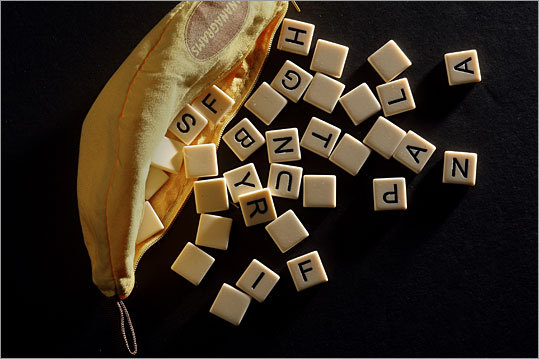Bananagrams Price: $14.99 Another product inspired by the lettered tiles of Scrabble, the Bananagrams word game requires no board to play, and comes in a simple banana-shaped pouch. The game, which was created by a Rhode Island man and was named 2009's Game of the Year, can be played by 2 to 8 players. If you find Bananagrams too tough, or want a different challenge, try out the two new word games, Appletters and Pairs in Pears , for $19.95 each.