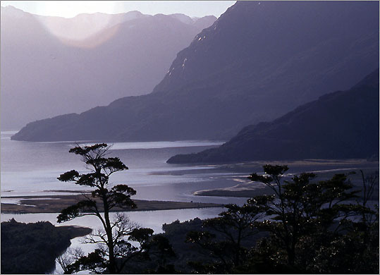 The Carretera Austral cuts among mountains and flords, glaciers and rivers, farms and forests.