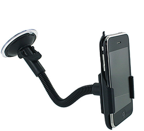 Flexible iPhone mount Price: $19.95 (sale price) Do you know someone who uses their iPhone for everything, including as a GPS while they're driving? This suction-cup mount will allow them to keep both hands on the wheel. The mount also has a flexible neck, and fits both the iPhone and the iPod Touch.