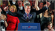 Scott Brown celebrates his win